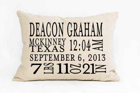 The Baby Announcement Pillow | Custom