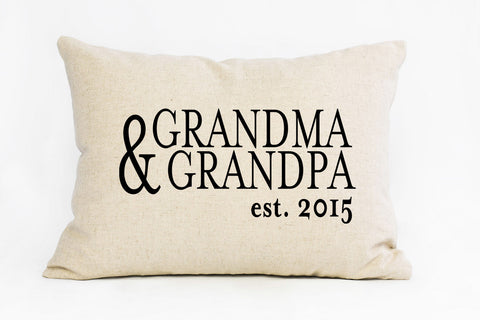 The Nana & Papa  Pillow | Custom Est. Date