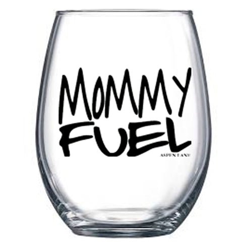 Mommy Fuel Stemless Wine Glass