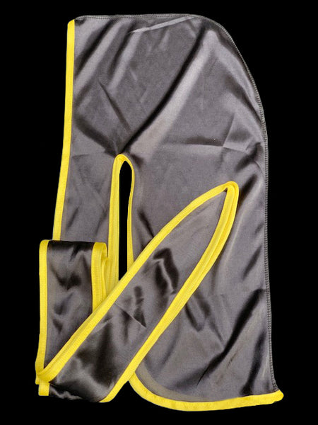 Black/Yellow Silky Durag