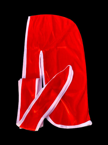 Red/White Silky Durag