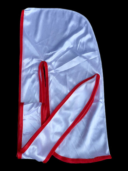 White/Red Silky Durag