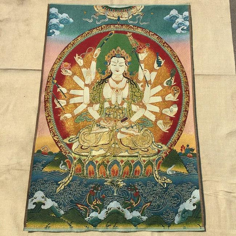 Broderie Bouddha aux Mille Mains