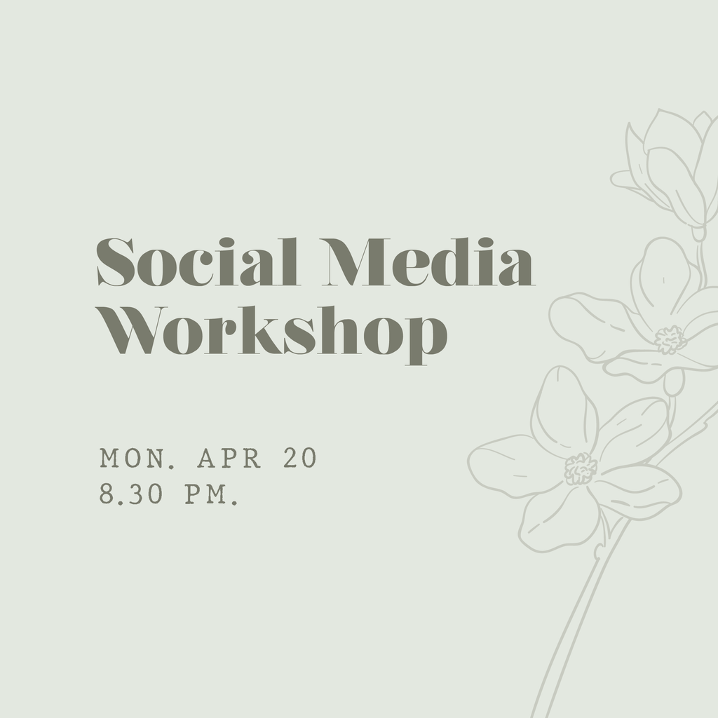 Social Media Workshop - FULLY BOOKED