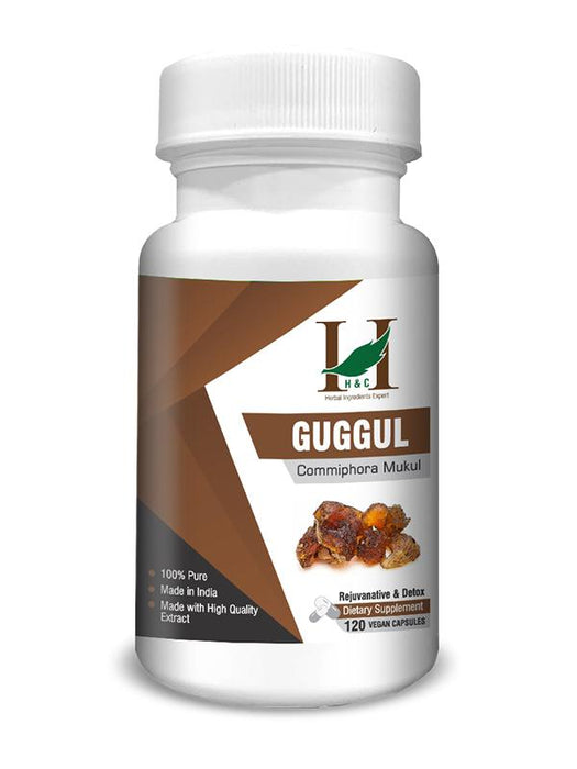 Guggul Capsules - Dietary Supplements - 450mg (120 Capsules)