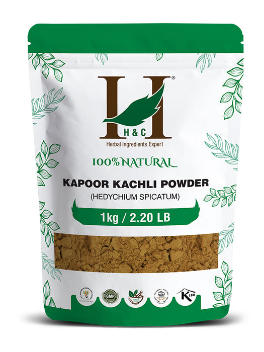 Kapoor Kachli Powder - Hedychium Spicatum - 1KG / 2.2 LB ( Value Pack )
