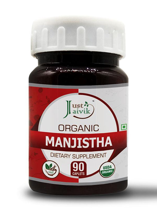 Organic Manjistha Tablets 750 mg - Dietary Supplements (90 Tablets)