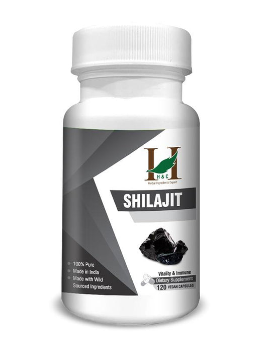 Shilajit Capsules - Dietary Supplements - 450mg (120 Capsules)