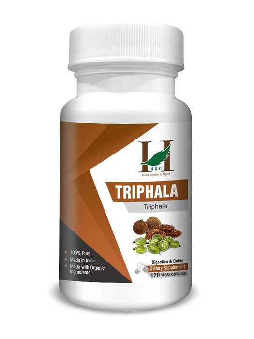 Triphala Capsules - Dietary Supplements - 450mg (120 Capsules)