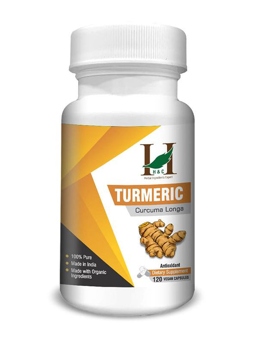Turmeric Capsules - Dietary Supplements - 450mg (120 Capsules)
