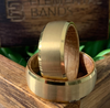 18k Whiskey - Gold Tungsten Whiskey Barrel Wedding Band