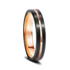 Black Rose - Black and Rose Gold Tungsten Ring