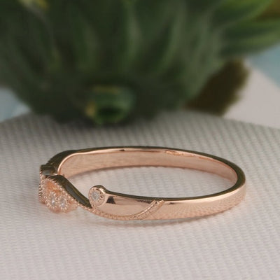 Moissanite 14k Gold Wedding Band