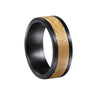 Black Bourbon - Black Tungsten Wedding Band with Bourbon Inlay