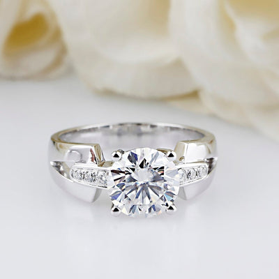 thick moissanite engagement ring