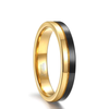 Classic Modern - Black and Gold Tungsten Ring