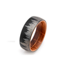 Whiskey Forest - Black Tungsten Forest Wedding Band with Whiskey Oak Sleeve