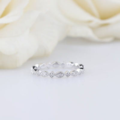 Moissanite full eternity wedding band