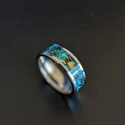Tungsten Opal Wedding Band