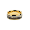 Oh Deer Me - Gold Tungsten Deer Antler Koa Wood Wedding Band