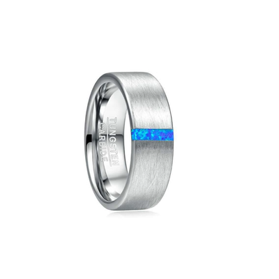Opal Touch - Blue Opal Tungsten Ring