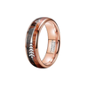 Double Wood Titan - Rose Gold Tungsten with Koa Wood Inlay