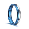 Smooth Sailor - Blue and Silver Tungsten Ring