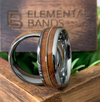 Silver Chord - Tungsten Guitar String Whiskey Barrel Wedding Band