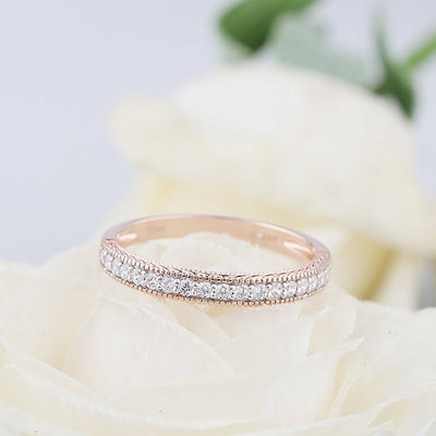 Rose Gold and White Gold Wedding Band