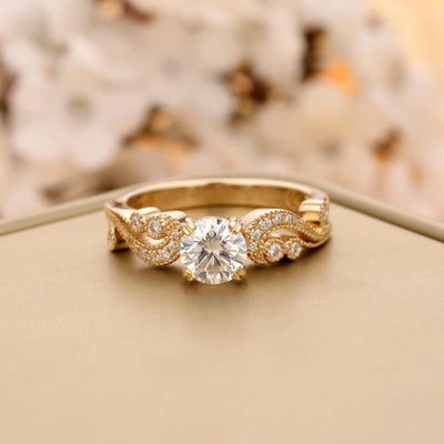 Vintage Moissanite Engagement Ring