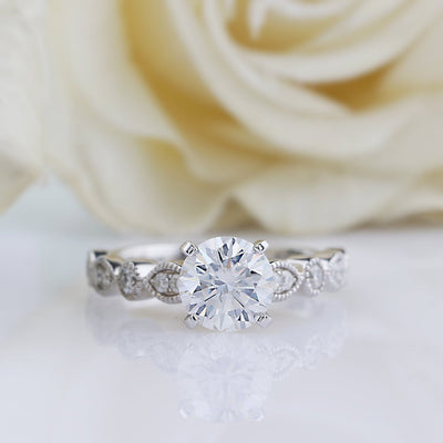 vintage moissanite ring