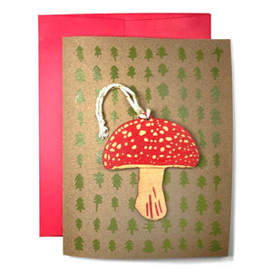 Amanita Ornament w/ Card