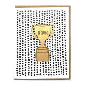 Laser-engraved 'Dang' Trophy Magnet with Card