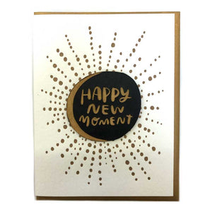 Happy New Moment Magnet with Letterpress Greeting Card