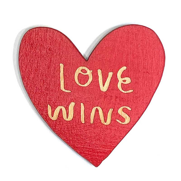 Laser-engraved 'Love Wins' Magnet