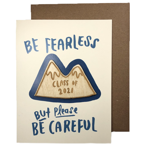 Class of 2021 'Fearless Careful' Magnet w/ Card