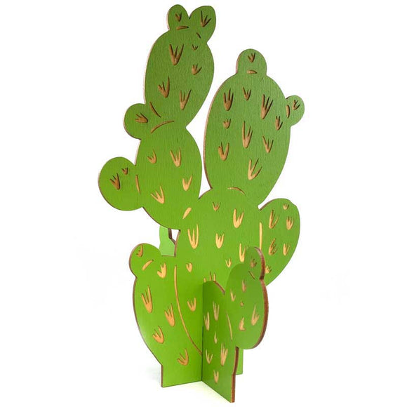 Laser-engraved Fake Plant - Prickly Pear
