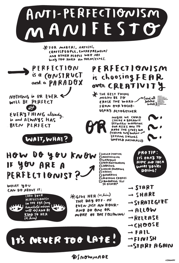 Antiperfectionism Manifesto Poster