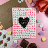 'I F@#*ing Love You' Letterpress Card with Laser-engraved Heart Magnet
