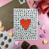 'I Think About You Every Day' Letterpress Card with Laser-engraved Heart Magnet