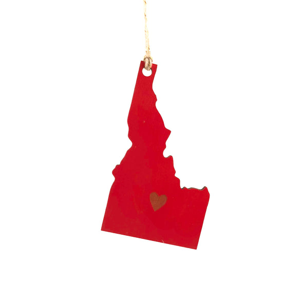 Photograph of Laser-engraved Idaho Heart Ornament - Large