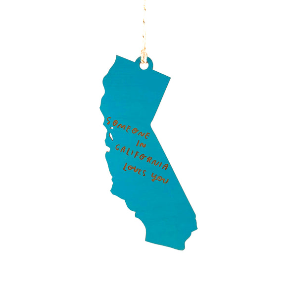 Photograph of Laser-engraved Someone in California Loves You Ornament - Small