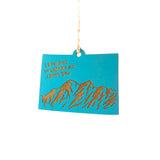 Photograph of Laser-engraved 'Someone in Colorado Loves You' Ornament - Large