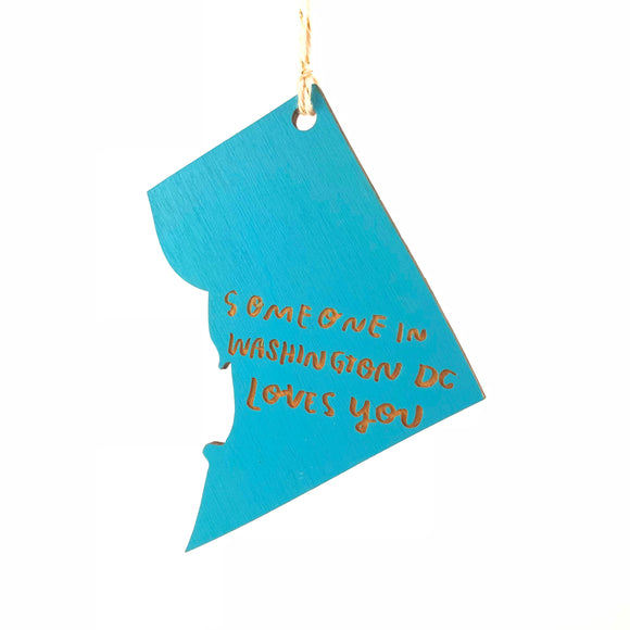 Photograph of Laser-engraved 'Someone in District of Columbia Loves You' Ornament - Large