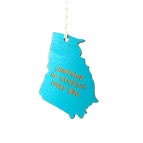 Photograph of Laser-engraved 'Someone in Georgia Loves You' Ornament - Large