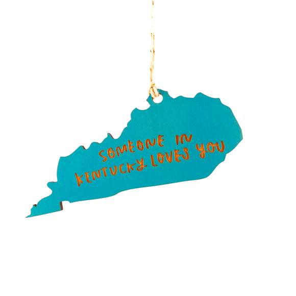 Photograph of Laser-engraved 'Someone in Kentucky Loves You' Ornament - Large