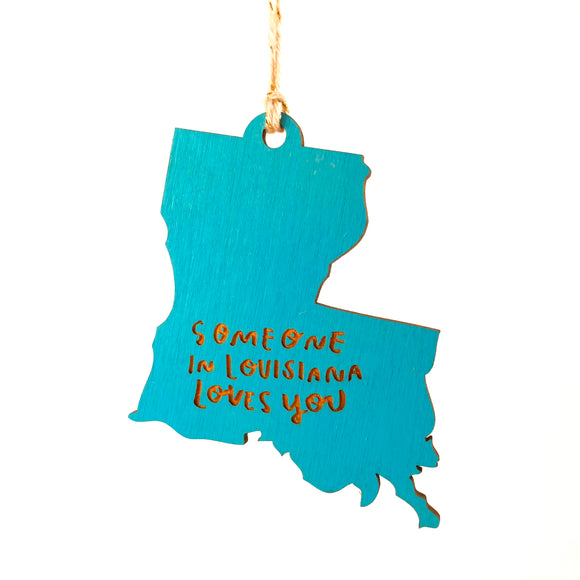 Photograph of Laser-engraved 'Someone in Louisiana Loves You' Ornament - Large