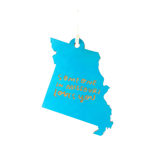 Photograph of Laser-engraved 'Someone in Missouri Loves You' Ornament - Large