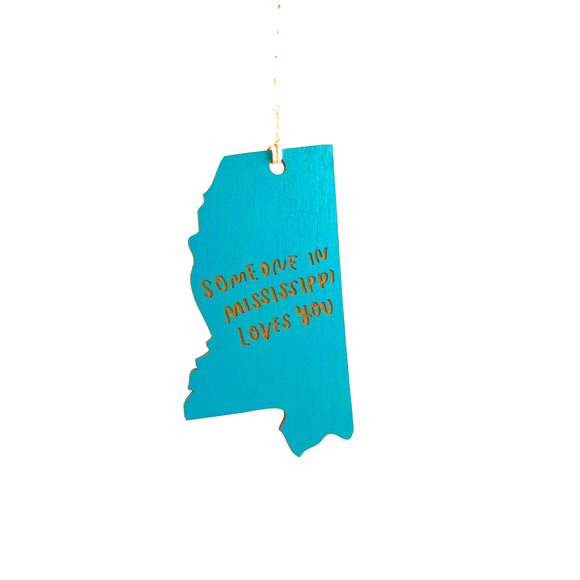 Photograph of Laser-engraved 'Someone in Mississippi Loves You' Ornament - Large