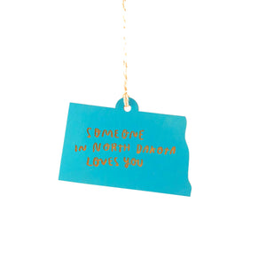 Photograph of Laser-engraved 'Someone in North Dakota Loves You' Ornament - Large